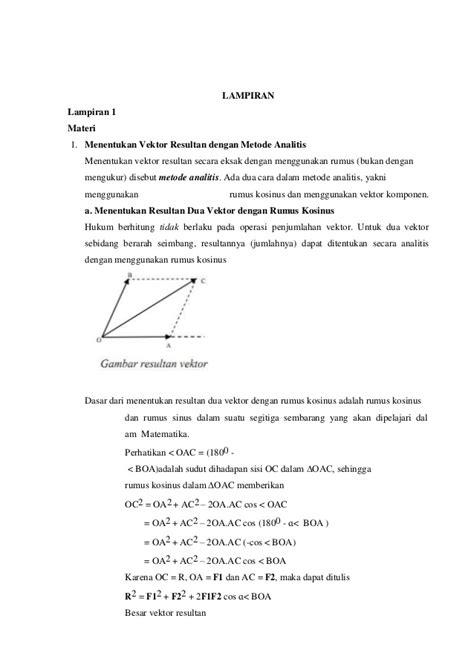 Fisika Sma Ma Jl 1 Ktsp rpp vektor pertemuan 3 ktsp