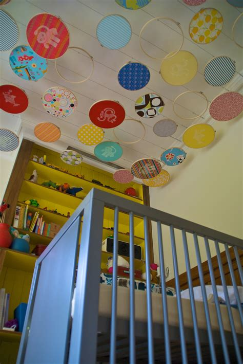 Nursery Ceiling Decor Puppy Preschool Diy Baby Nursery Embroidery Hoop Ceiling