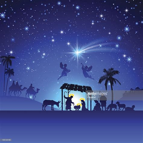 search results for jesus in stable silhouette calendar