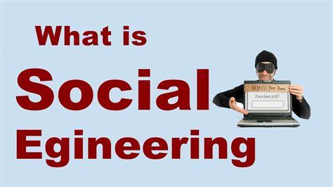 Social Engineering what is social engineering psychological manipulation