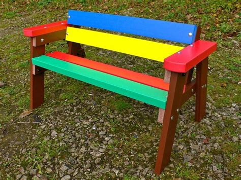 childrens wooden garden bench thames child s multicoloured outdoor garden table