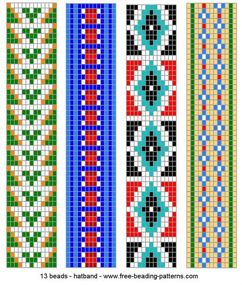 loom bead patterns no link graph beaded loom patterns