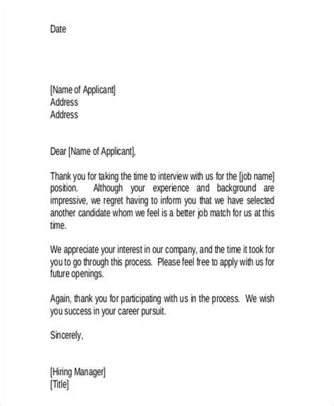 rejection letter premium templates