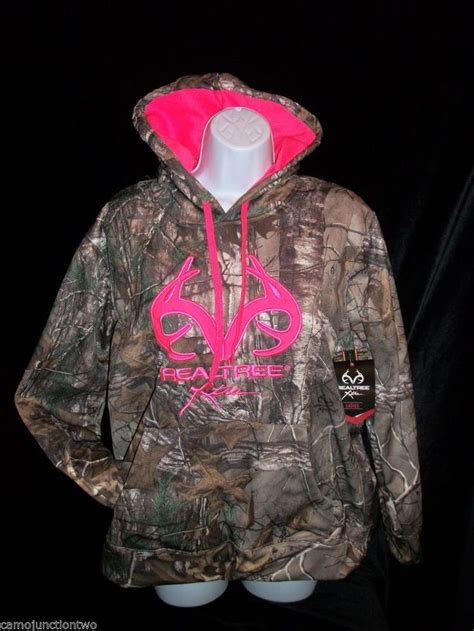womens realtree camo hoodie sweatshirt details about womens realtree xtra camo jacket pink