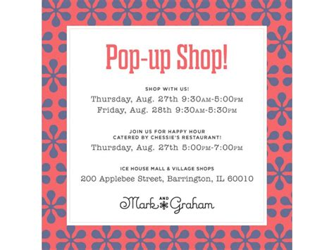 ice house mall ice house mall and village shops announces new pop up shop mark and graham by william
