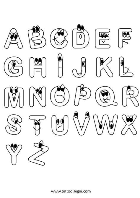 disegni lettere alfabeto da colorare lettere alfabeto da stare e colorare tuttodisegni