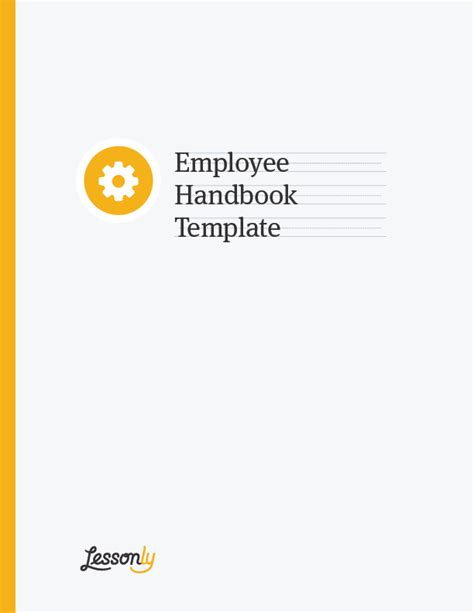 manual cover template free employee handbook template lessonly