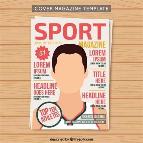 vector music magazine cover template free download f4pik