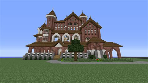 Minecraft House Blueprints Plans price check mega mansion victorian 55x45x50