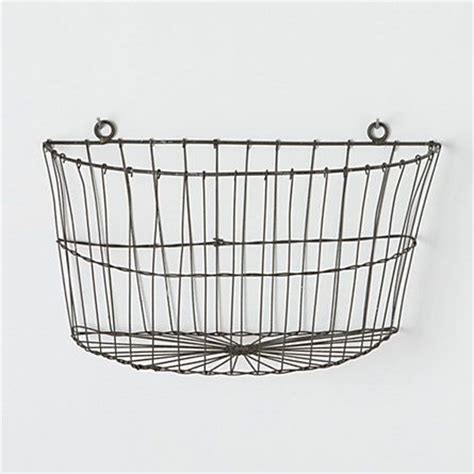 half moon wire wall basket planters baskets for storage
