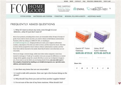 fco home goods e commerce web design covington louisiana