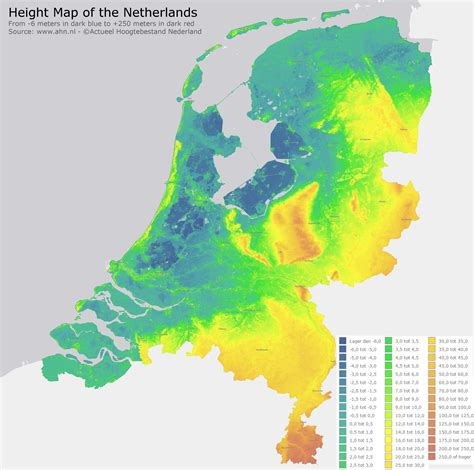 netherlands global map height map of the netherland maps