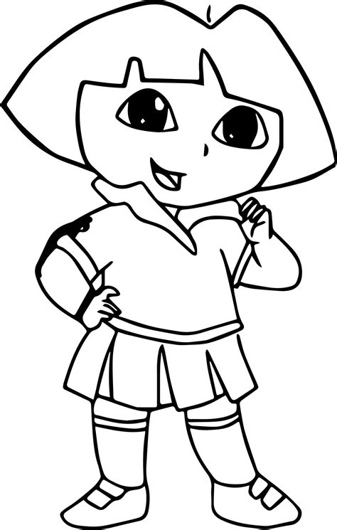 baby dora coloring pages draw dora the explorer picture coloring page wecoloringpage