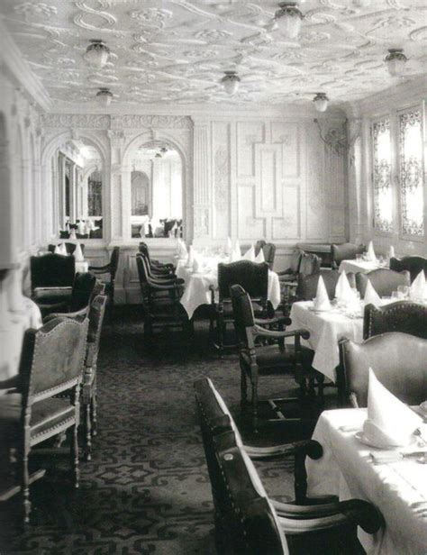 dining on the titanic first class passengers dining room histσry rмs