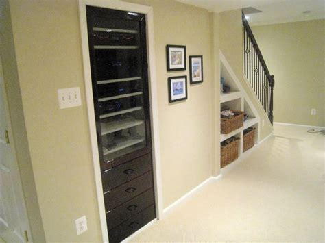 Media Closet Ideas by Built In Av Equipment Panel For The Home