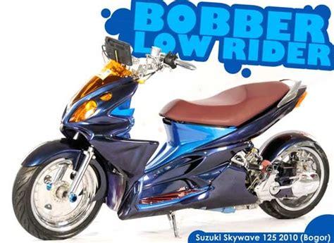 Roller Lorer Suzuki Skywave suzuki skywave 125 bobber lowrider modification modifikasi motor