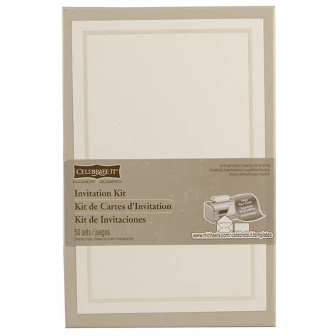 printable invitations michaels celebrate it occasions invitation kit ivory border