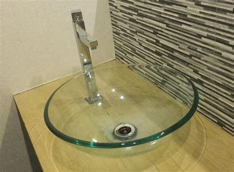 lavabos sobrepuestos lavabo de cristal diseno casa