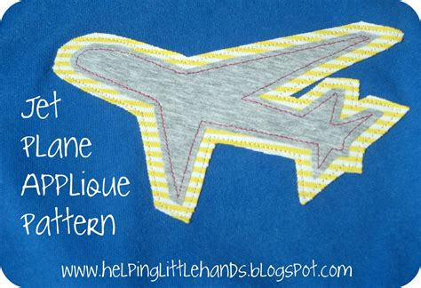 pattern for felt airplane pieces by polly double jet plane applique with printable