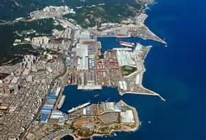 Hyundai Heavy Industries Shipyard Hyundai Heavy Industries Shipyard In Ulsan South Korea