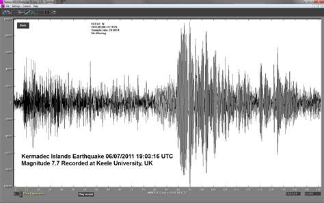 earthquake records kermadec islands earthquake july 06 2011 recorded at