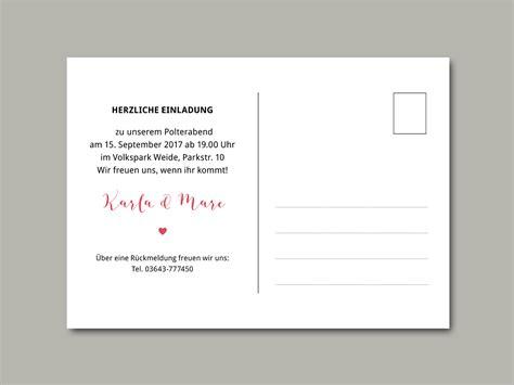 Polterabend Einladung by Einladungskarten Polterabend Vorlagen