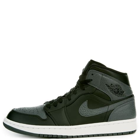 men jordan 1 c men s air jordan 1 mid black dark grey summit white