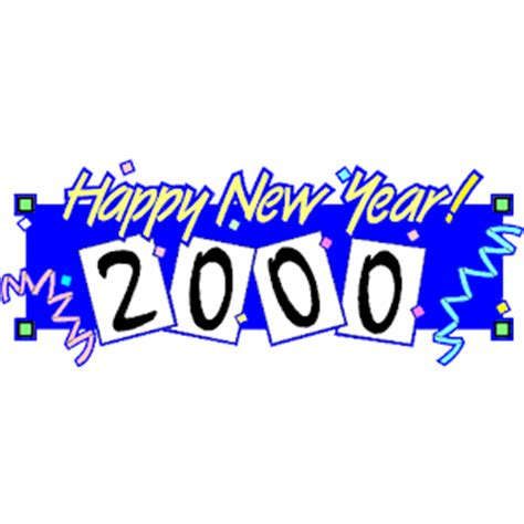 new year 2000 year of the happy new year 2000 clipart cliparts of happy new year