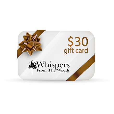 Great Gift Ideas Unique Gift Certificates The Rack Stylewatch Peoplecom by Great Gift Idea 30 Gift Card Whispers From The Woods