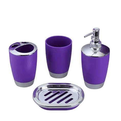 plastic bathroom set 4pcs set plastic bathroom suit bath accessories cup