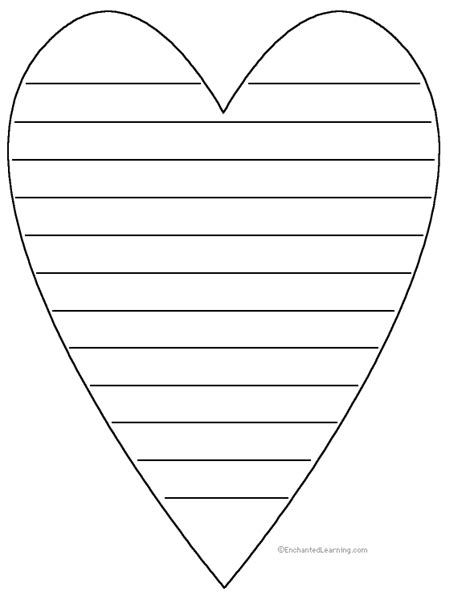 heart shape poem printable worksheet enchantedlearning com