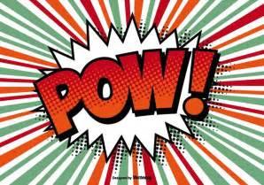 comic style pow illustration download free vector art