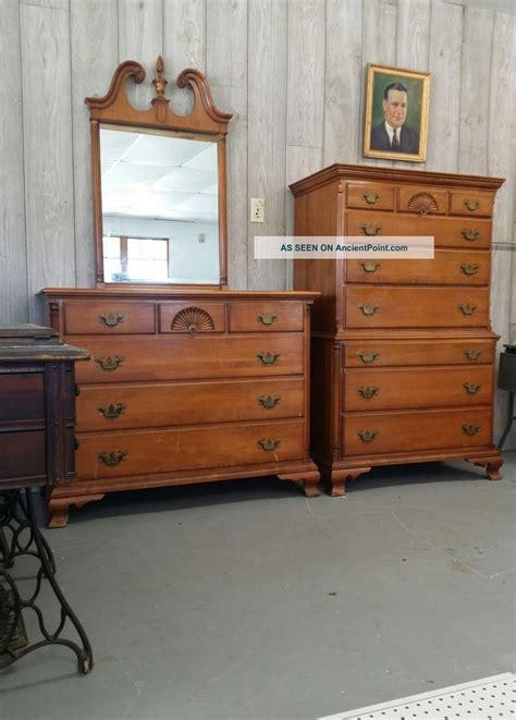 vintage kling solid maple   dressers highboy mid