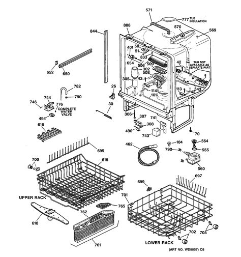 ge dishwasher parts diagram model search gsd5310d02aa