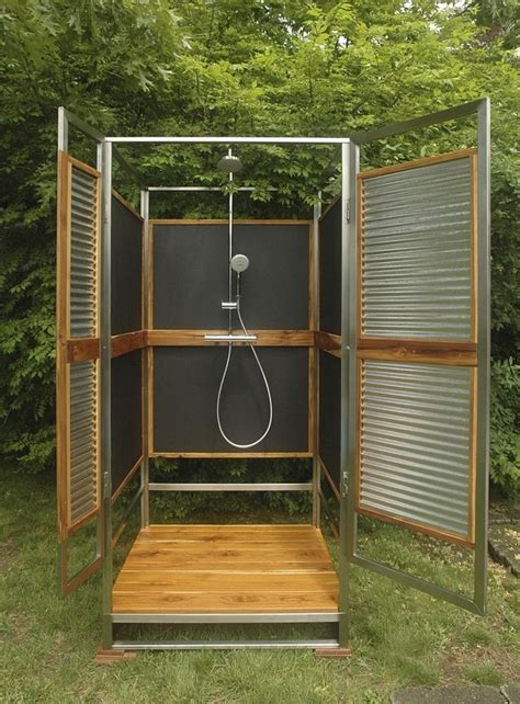 outdoor shower designs enclosures best 25 outdoor shower enclosure ideas on