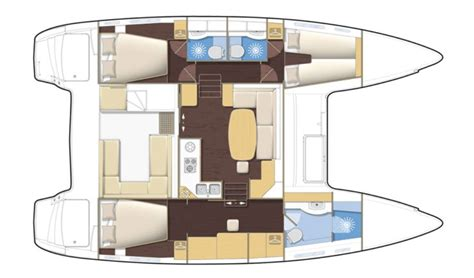 Yacht Floor Plan by Vendu Lagoon Lagoon 400 3 Cabines Occasion 326 A Amp C