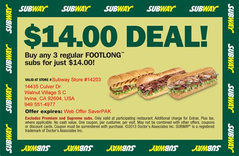 printable subway coupons november 2017 coupons for subway 2017 2018 best cars reviews