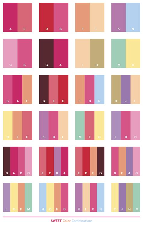 red color combinations sweet color schemes color combinations color palettes