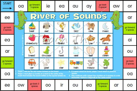 printable games for digraphs river of sounds digraphs fun printable classroom games