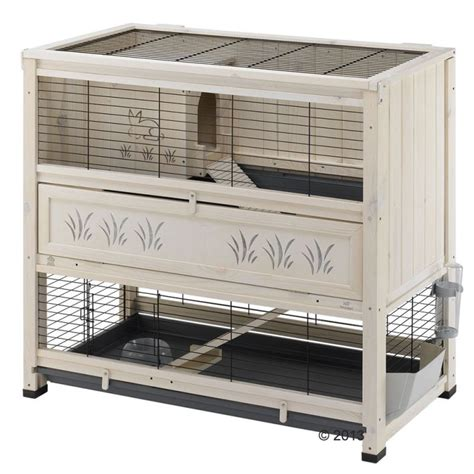 Guinea Pig Hutch Indoor ferplast wooden cage cottage at zooplus
