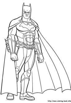 ภาพระบายสี Batman แบทแมน หรือมนุษย์ค้างคาว Page1