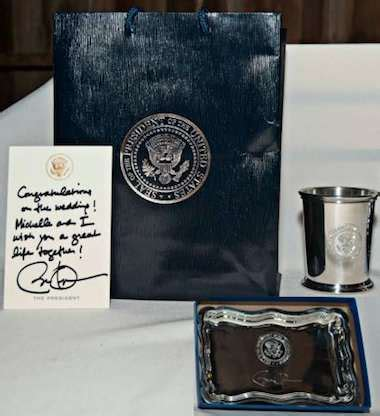 newlyweds gifts obama sends gift after presidential visit clashes with