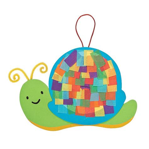 snail crafts for colorful snail tissue paper craft kit orientaltrading