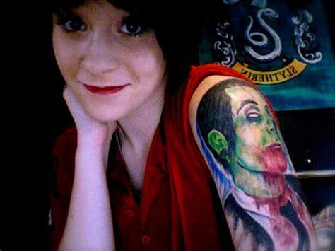 davey havok tattoos zombified davey havok of afi s arm