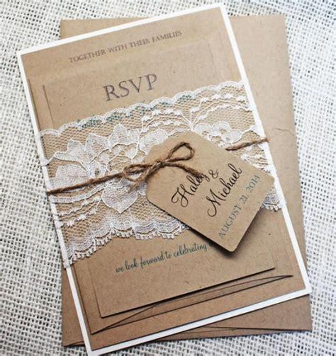diy wedding invitation kit diy rustic wedding invitation kit eco kraft and rustic
