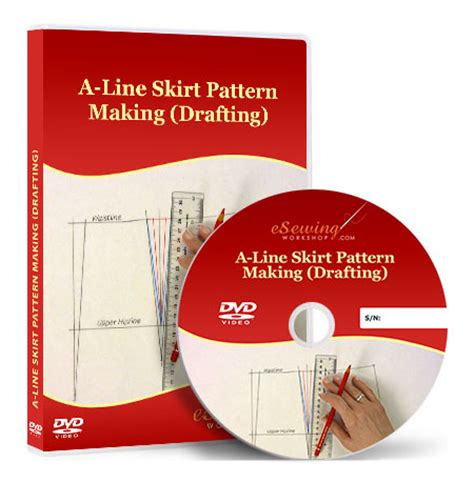 pattern drafting dvd a line skirt pattern making drafting video lesson on dvd