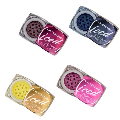Foiled La Colors Iced Pigment Powder Limited iced pigment powder la colors colorsandmakeup