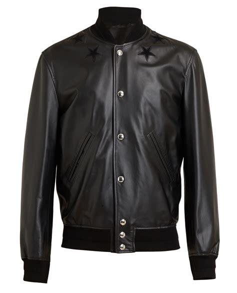 givenchy leather jacket givenchy leather bomber jacket in black for khaki lyst