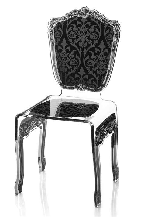 chaise plexi transparente chaise baroque en plexiglas