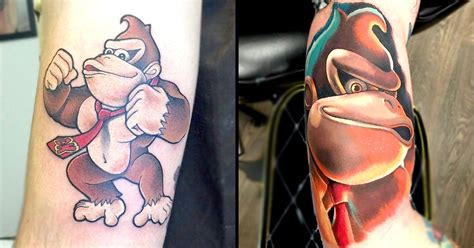 donkey kong tattoo kong a portrait of a maligned digital ape in